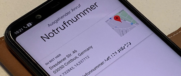 """Ortung von Notrufen mittels """"Advanced Mobile Location"""""""
